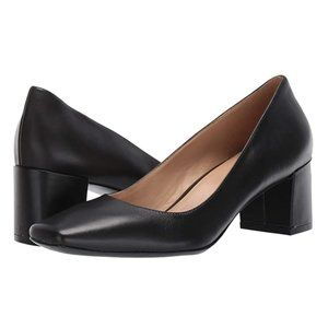 NEW Naturalizer Leather Square Toe Block Heels 8.5